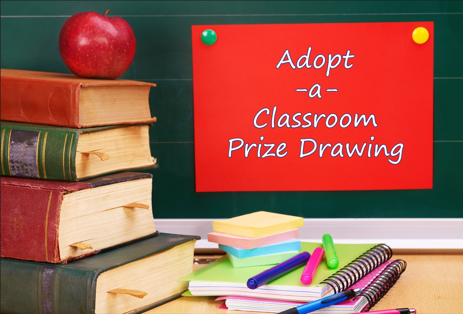 Adopt-A-Class Prize Drawing banner